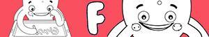F harfi ile erkekler isimleri boyama
