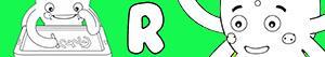 R harfi ile erkekler isimleri boyama