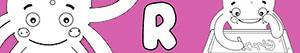 R harfi ile kızlar isimleri boyama